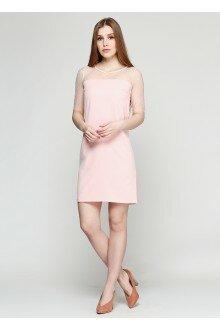 Платье пудра (рукава сетка)