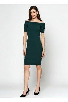 Платье-футляр (шершавая зеленая бутылка)