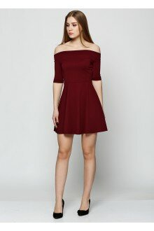 Платье (темно-бордовый)