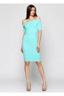 Платье-футляр (шершавая мята)