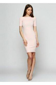 Платье-футляр (шершавая пудра)