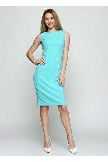 Платье (шершавый мятный+ спинка)