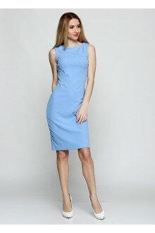 Платье (шершавый голубой+ спинка)