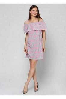 Платье (штрих-розовый)