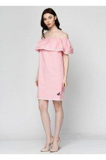 Платье (розовый+горошек)