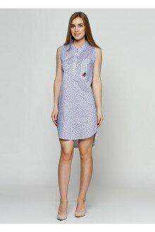Платье (голубой+синие цветки1)