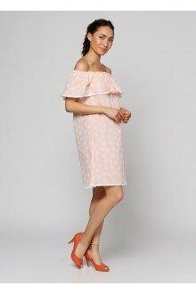 Платье (персиковый+сердца)