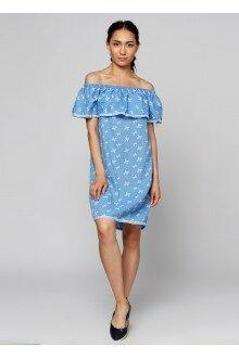 Платье (голубая марля+бантики)