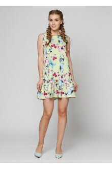 Платье (лимонный+бабочки)