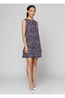 Платье штапельное (т.синий+бантики)