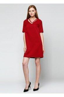 Платье чокер (св.бордовый)