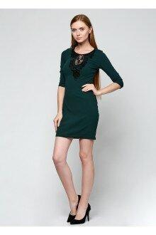 Платье с орнаментом (шершавая зеленая бутылка)