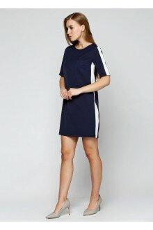 Платье (темно-синий+лампасы)