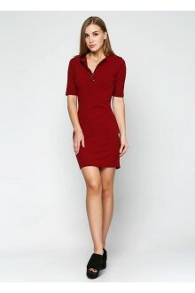 Платье (бордовый+кольцо)