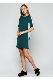 Платье (зеленая бутылка+лампасы)