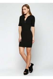 Платье (черный+колечко)