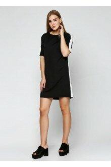 Платье (черный+лампасы)