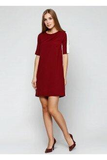 Платье (св.бордовый+лампасы)